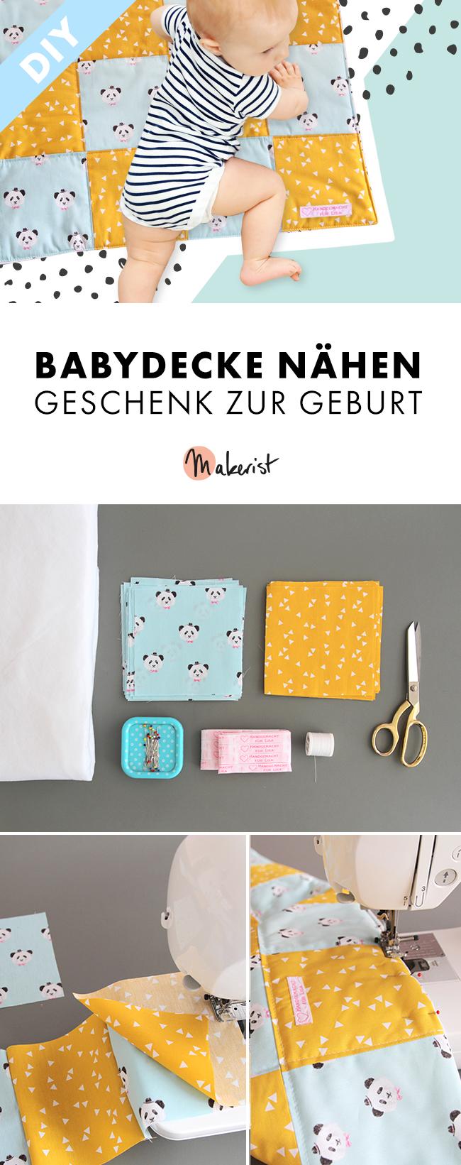 Makerist-DIY-Geschenk zur Geburt-Babydecke nähen (43)