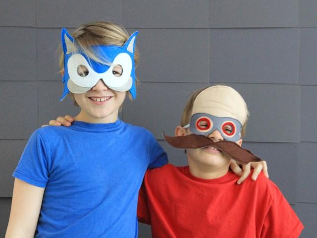 Sonic the Hedgehog – Masken aus Filz für Karneval und Fasching selber machen