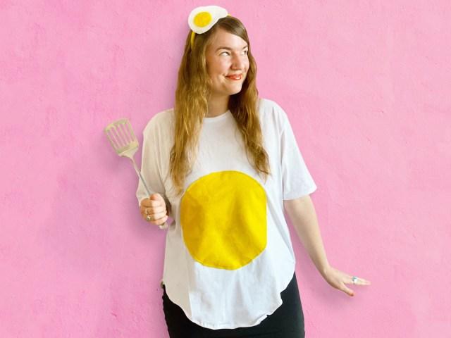 Spiegelei-Kostüm selber machen – DIY-Verkleidung für Karneval, Fasching, Halloween und Co