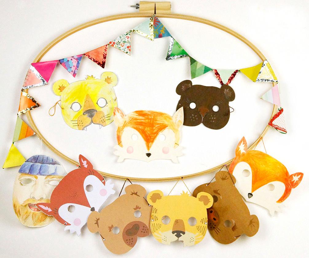 Nähen-und-Basteln-mit-Kindern-17-einfache-Projekte-für-die-Tage-Zuhause-Tiermasken