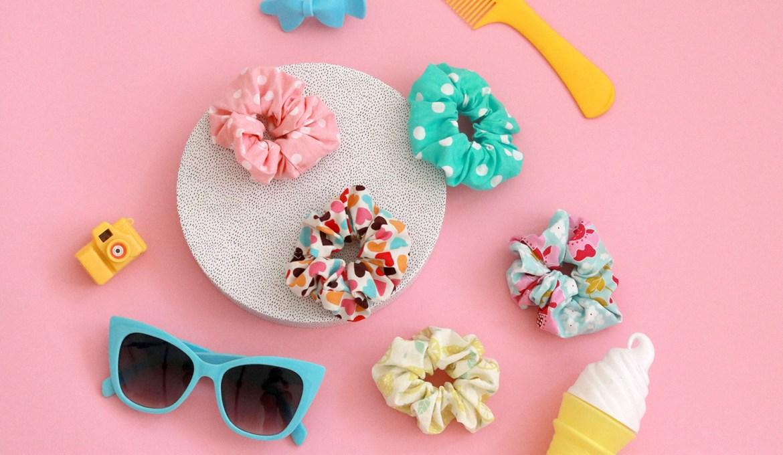 Makerist-Scrunchies-selber-nähen-DIY-Haargummis-1