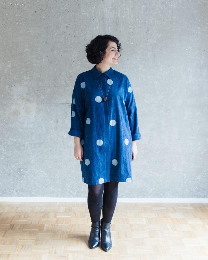 Makerist-Herbstmode-selber-naehen-15-Anleitungen-fuer-Gross-und-Klein-Oversized-Blusenkleid
