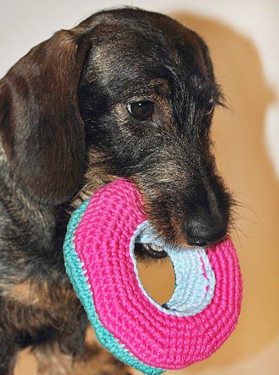 Makerist-Naehen-fuer-Hunde-17-tolle-Accessoires-fuer-Vierbeiner-gehaekeltes-Hundespielzeug