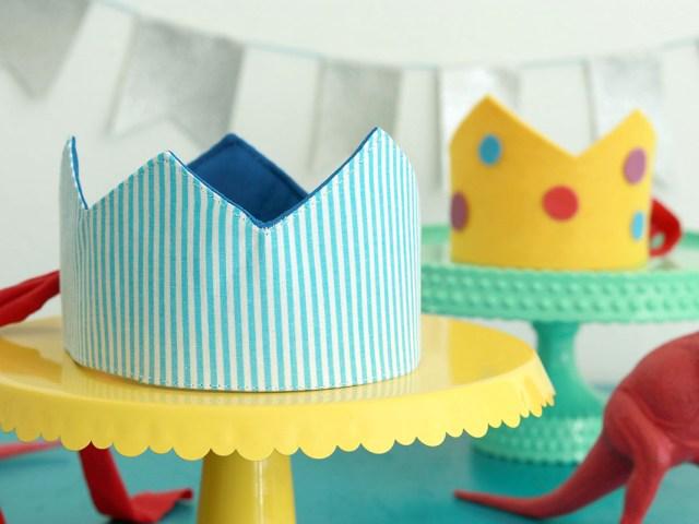 Geburtstagskrone nähen und basteln