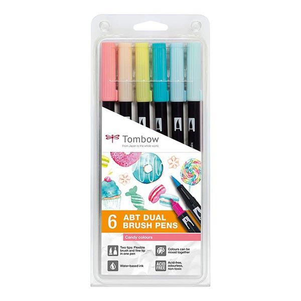 Makerist-DIY-Trends-2021-Brush-Pen-Stifteset-Candy-Colours