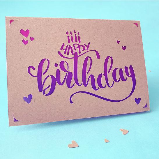 Makerist-DIY-Trends-2021-Plotterdatei-Geburtstagskarte