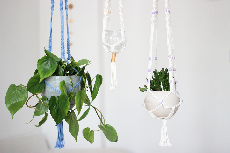 DIY-Makramee-Blumenampel