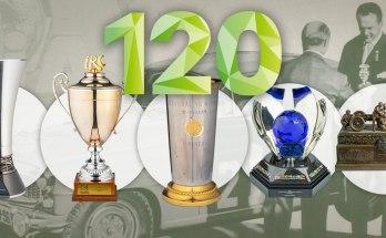 """Těch úspěchů, cen, diplomů, trofejí, plaket a vavřínů by bylo samozřejmě mnohem víc. Připomeňte si ale aspoň některé zajímavé příběhy, které zažili jezdci s vozy značky L&K a ŠKODA při motoristických soutěžích na několika kontinentech. Dnes tyto ceny zdobí sídlo současných pokračovatelů ze ŠKODA Motorsport, nebo patří k pokladům obsáhlých sbírek mladoboleslavského ŠKODA Muzea. 1909: """"Cena průmyslu"""" prince Ericha z Thurnu a Taxisu Rychlým a mimořádně spolehlivým automobilům LAURIN & KLEMENT se dařilo nejen v dálkových jízdách spolehlivosti a vytrvalosti, předobrazu současných rallye, ale i tehdy populárních závodech do vrchu. Působivou sérii jejich vítězství dekorovala """"Cena průmyslu"""", vypsaná v roce 1909 princem Erichem z Thurnu a Taxisu. Měla připadnout automobilce, která v sezonách 1909, 1910 a 1911 získá největší počet cen na sportovních podnicích, které si sama zvolí ze seznamu Rakouského automobilového klubu. Suverénní tažení značky L&K konkurenci natolik znechutilo, že se v roce 1912 členové Svazu rakouských automobilek rozhodli bojkotovat všechny sportovní podniky pořádané na území monarchie – s výjimkou Alpské jízdy… DSC9620 1914: Alpská jízda K nejnáročnějším automobilovým soutěžím doby před první světovou válkou patřila Alpská jízda se startem ve Vídni a tratí vedoucí desítkami průsmyků evropských velehor. Masivní trofej """"Velká alpská putovní cena"""" pochází z léta 1914. Pořádající rakouský autoklub nechal původně vytvořit nádherné umělecké dílo, u něhož se jen hodnota použitého materiálu pohybovala kolem 10 000 korun, tehdy ekvivalentu ceny automobilu vyšší třídy. Trofej měl obdržet jezdec, který v ročnících 1912, 1913 a 1914 udržel čisté konto trestných bodů. Jenže takových závodníků bylo hned pět. Autoklub je tedy podělil pěti věrnými odlitky originálu trofeje. Výjimečné postavení značky LAURIN & KLEMENT spočívalo ne ve třech, ale hned pěti vítězstvích v řadě (1910–1914), což žádná jiná automobilka nedokázala. DSC9607 1964: Shell 4000 Rally Modelová řada """