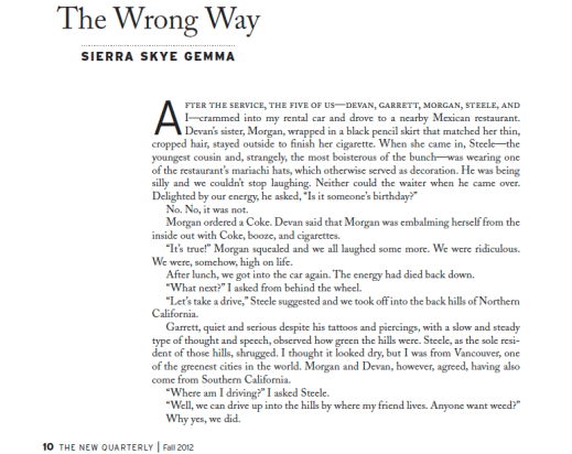 """Click to read """"The Wrong Way"""" by Sierra Skye Gemma"""