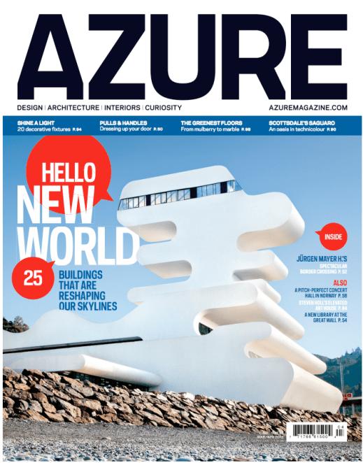 """""""March/April 2012"""" - Azure, Art Direction by Concrete Design Communications"""