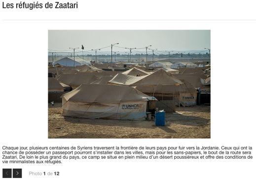 """""""Les réfugiés de Zaatari,"""" photographie par Valérian Mazataud pour L'actualité"""