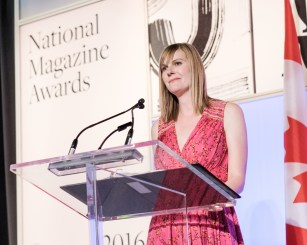 NMA judge and 4-time NMA winner Danielle Groen presents the award for Best Short Feature
