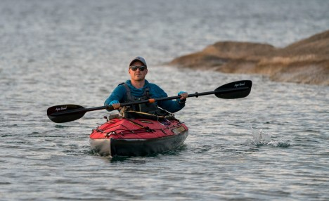 Ross Exler on kayak