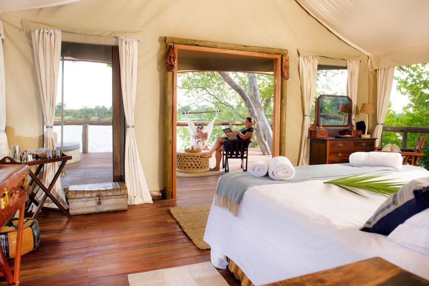 Luxury safari tent at Ila Safari Lodge
