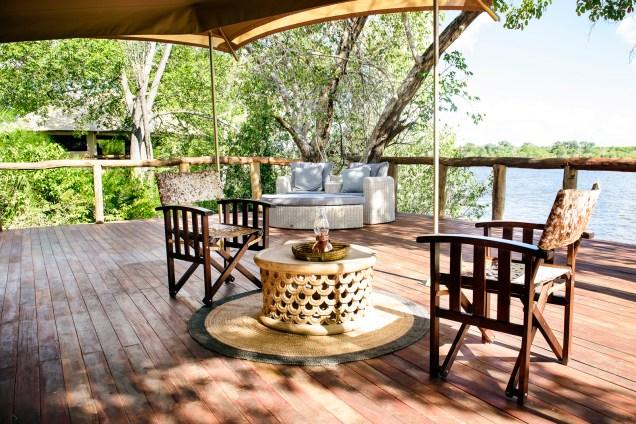 Deck at Ila Safari Lodge
