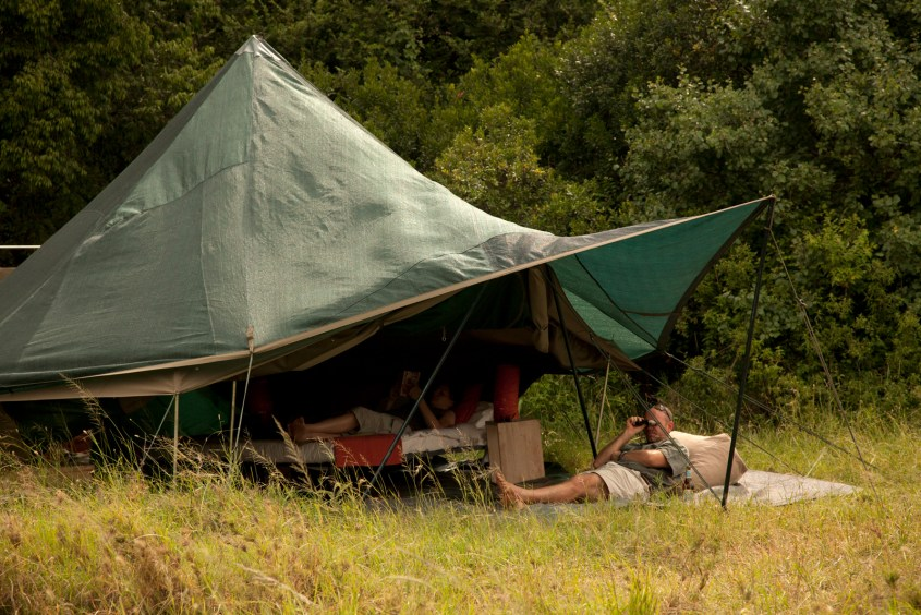 Canvas bell tent in Serengeti