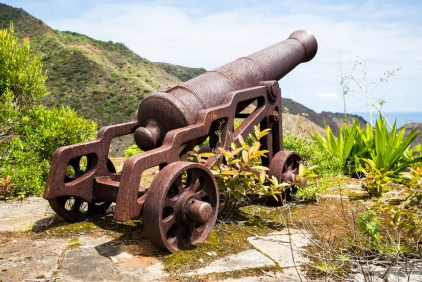 Cannon at St. Helena island