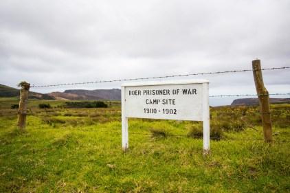 Boer Prisoner of War signpost