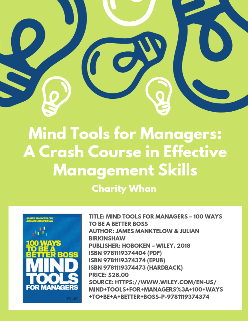 Mind Tools for Managers: A Crash Course in Effective Management Skills
