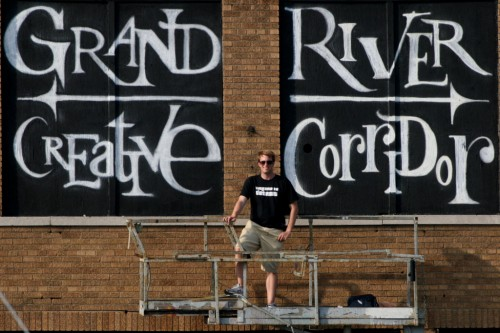 Derek Weaver at the Grand River Creative Corridor (photo courtesy of Derek Weaver)