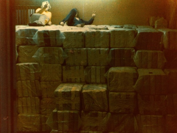 Company members pose on top of a shipment of marijuana. (Photo: Courtesy of Gary Kidd)