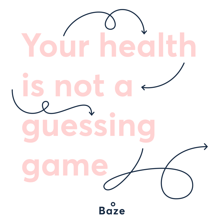 your health is not a guessing game