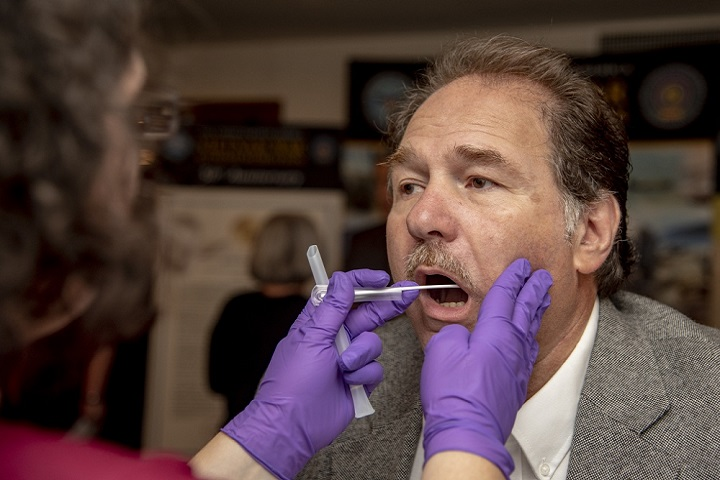 DNA can be collected via cheek (buccal) swab or through a blood collection. Cheek swabs do open the door for sample contamination, but it's not so much the collection method as it is the limitations of the results that make DNA analysis a limiting assessment method for the Baze approach.