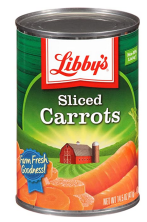 Libby's, Sliced Carrots