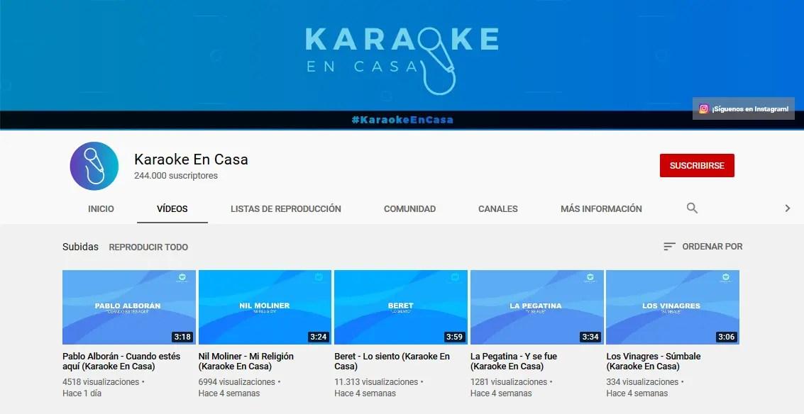 Karaoke a través de internet