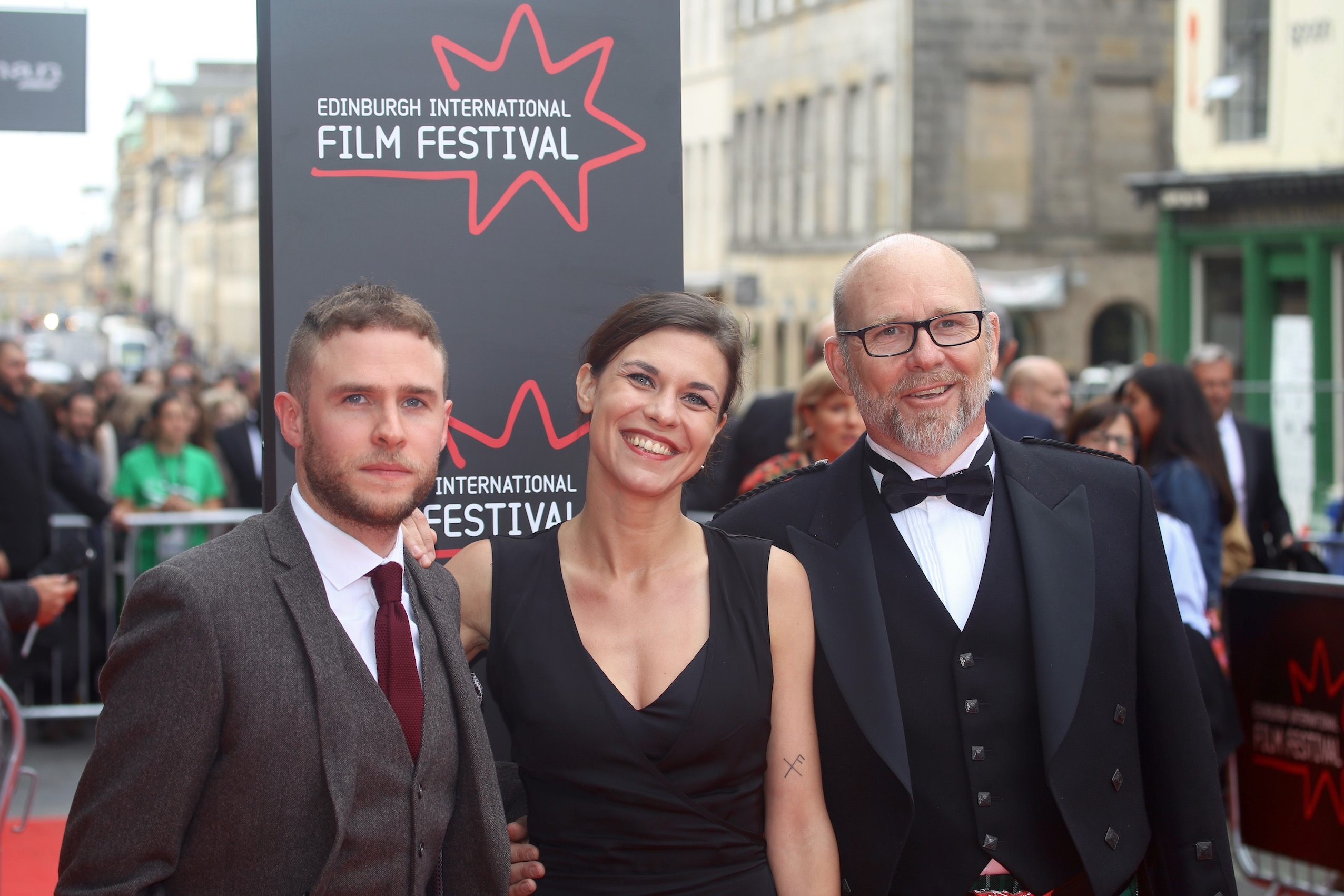 Iain De Caestecker,Ana Ularu and Jason Connery