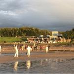 Boardwalk cricket at Cramond Edinburgh