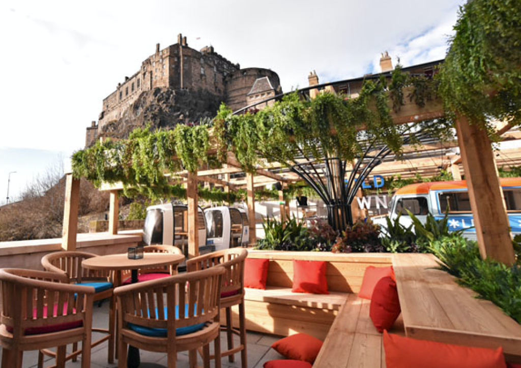 Rooftop bar at Cold Town House