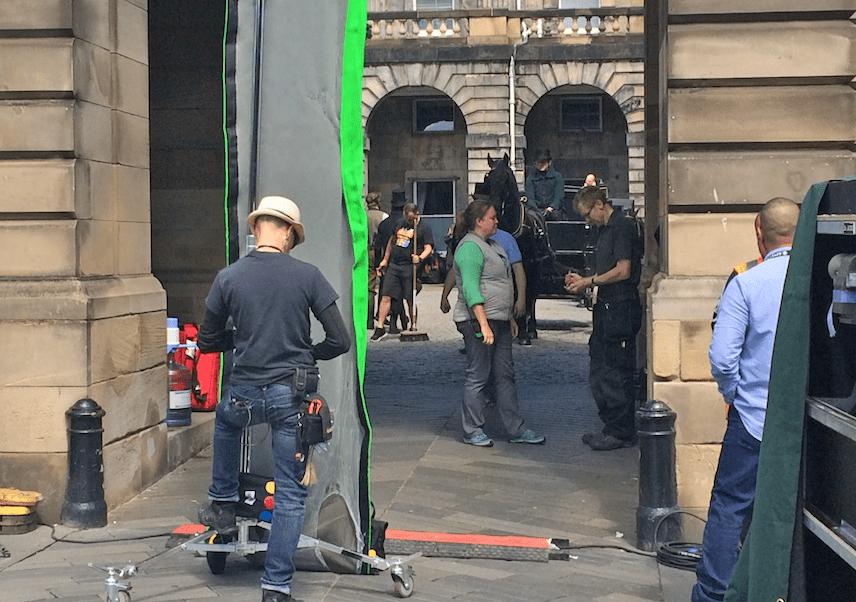 Belgravia filming at Edinburgh City Chambers