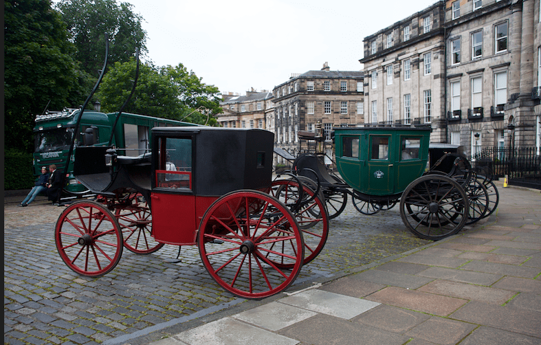 Carriages in Moray Place