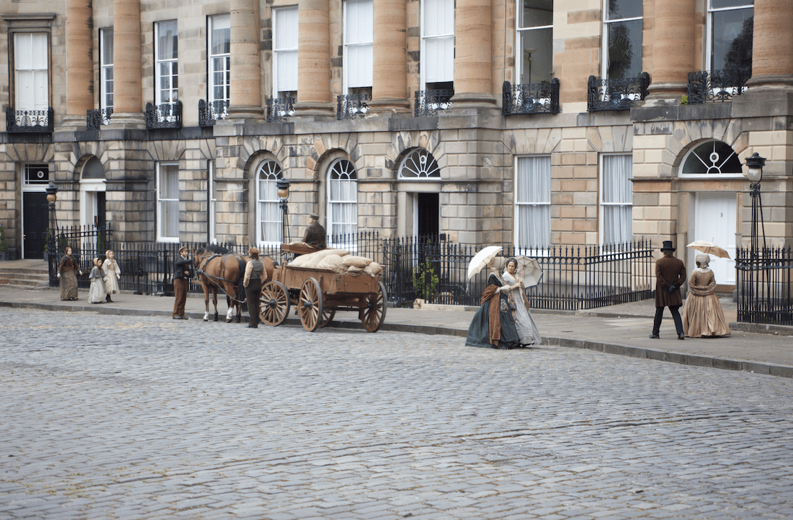 Moray Place filming of Belgravia