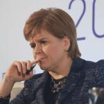 Nicola Sturgeon contemplating
