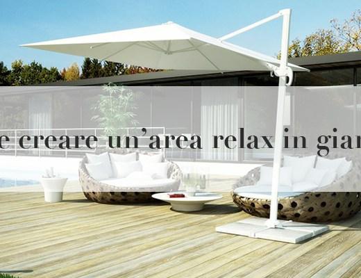 creare area relax giardino