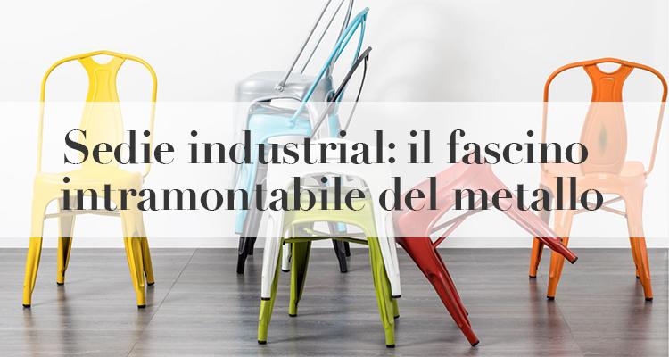 sedie industrial metallo