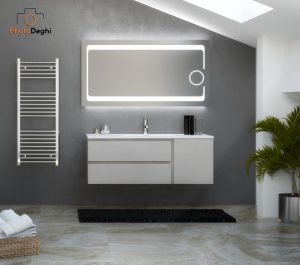 specchio led con ingranditore bagno mansarda