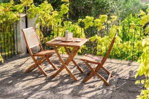 set legno cortile pranzo 2 posti giardino