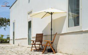 arredare giardino piccolo ombrellone