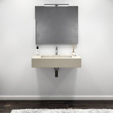 lavabo sospeso in gelcoat