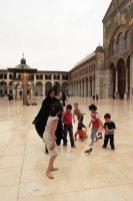 Dentro la Moschea degli Omayyadi Damasco