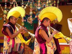 Monaci buddisti al gompa di Spituk