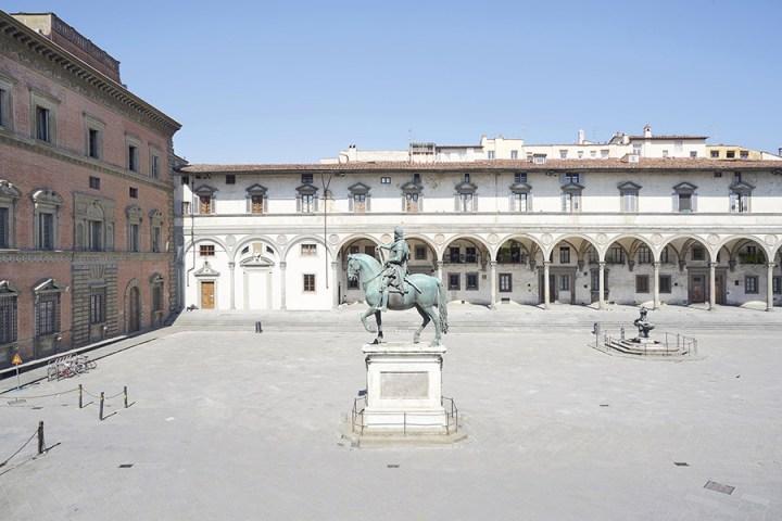 Piazza della Santissima Annunziata, Firenze, Italia. © Edoardo Delille