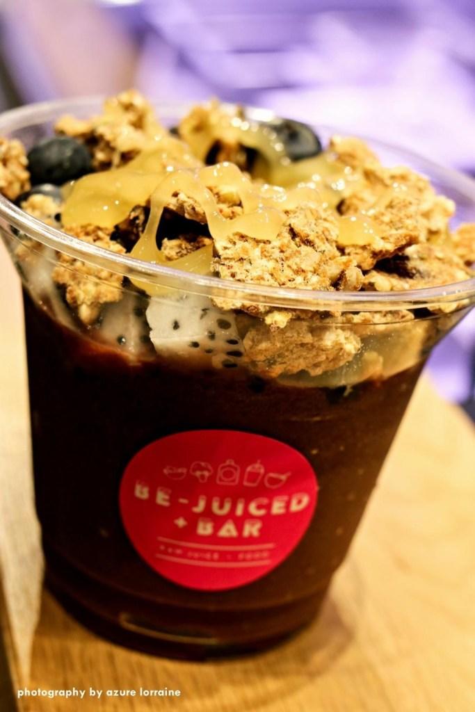 Fresh and juicy Acai Bowl at Be-Juiced