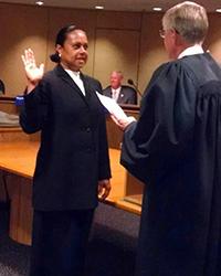 Rita Rawson getting sworn in