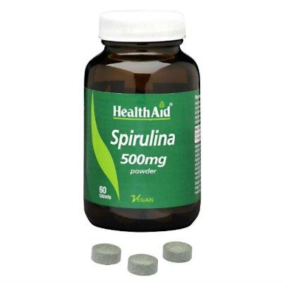 spirulina - integratore in compresse per dieta vegana - HealthAid