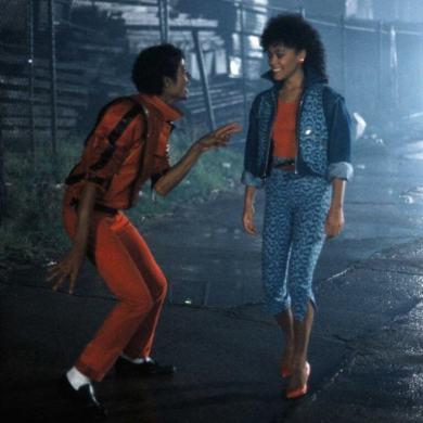 Ola Ray et Michael Jackson dans Thriller