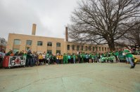 Despite the cloudy day, a large group of students gathered at the Puck for the first day of Follies.